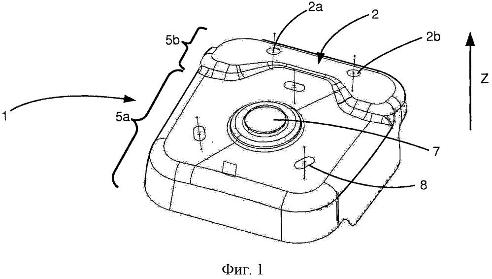 Приемное устройство элемента подвески автотранспортного средства, конструкция, содержащая два идентичных устройства, и способ изготовления конструкции