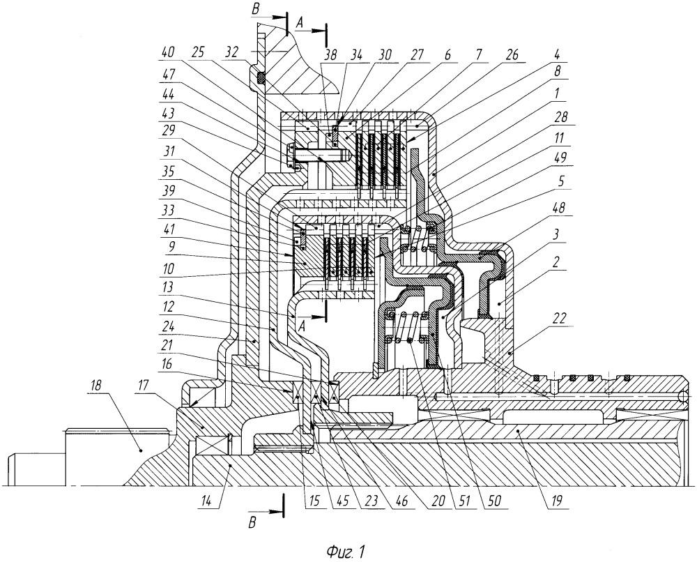 Двойное многодисковое сцепление трансмиссии транспортного средства