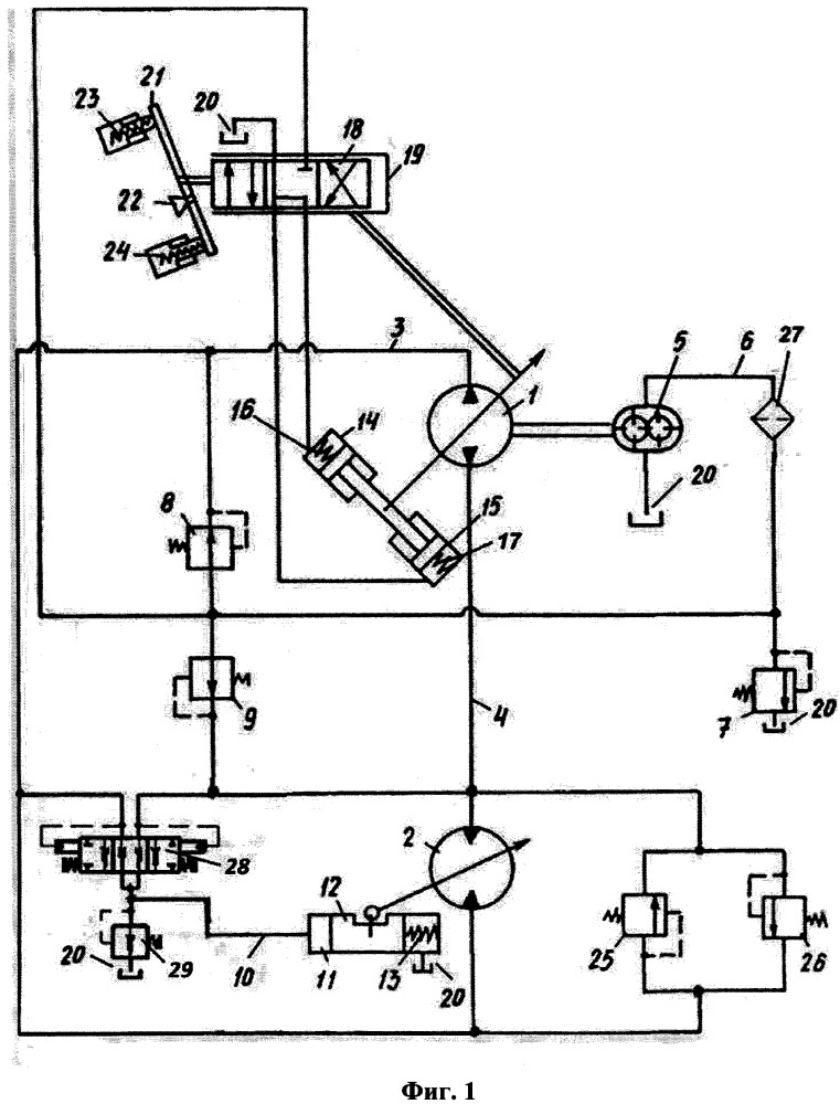 Гидрообъемная передача
