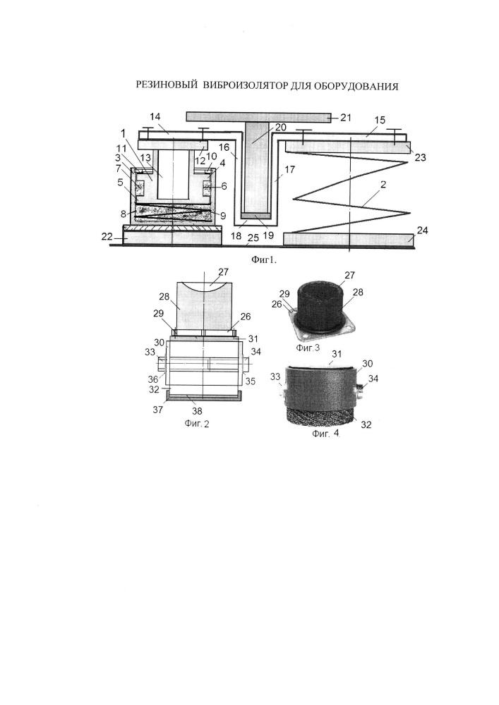 Резиновый виброизолятор для оборудования