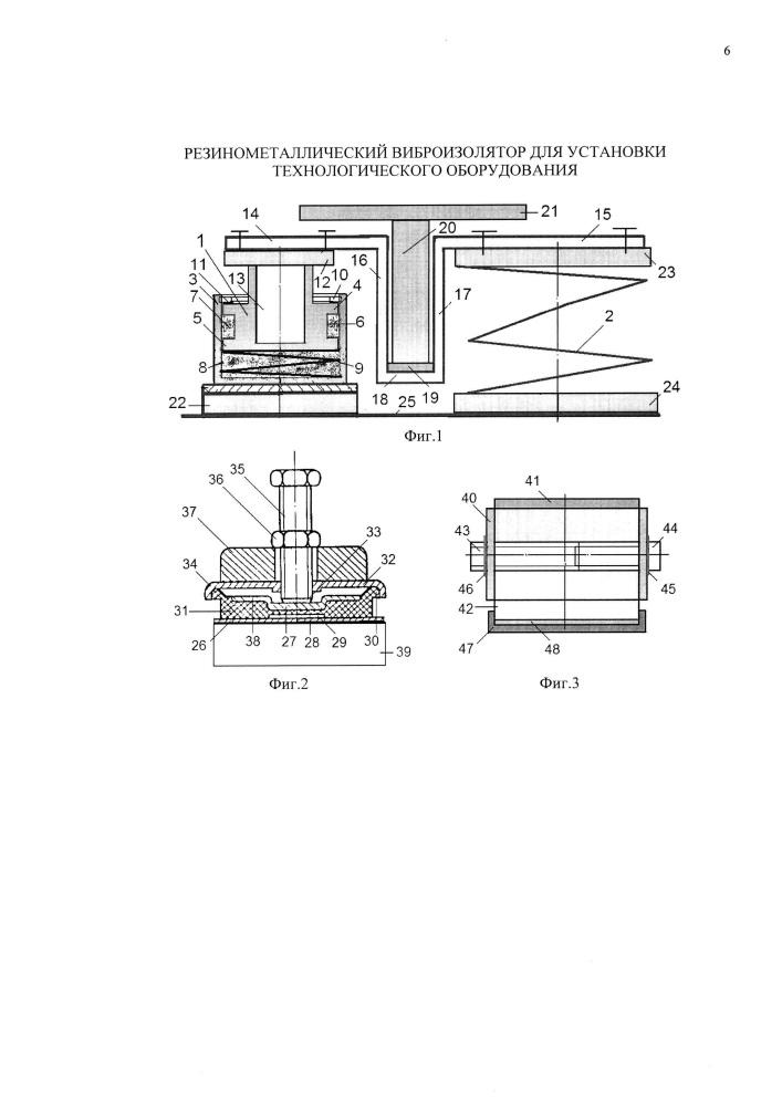 Резинометаллический виброизолятор для установки технологического оборудования