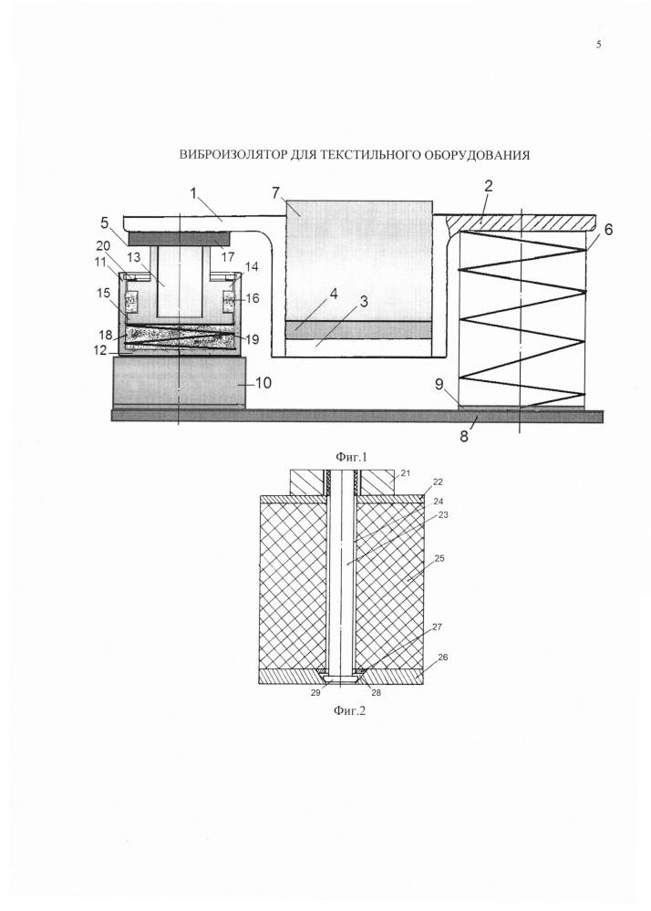 Виброизолятор для текстильного оборудования