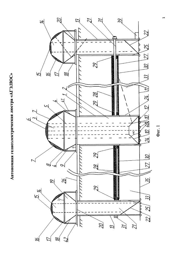Автономная гелиоэлектрическая люстра агэлюкс