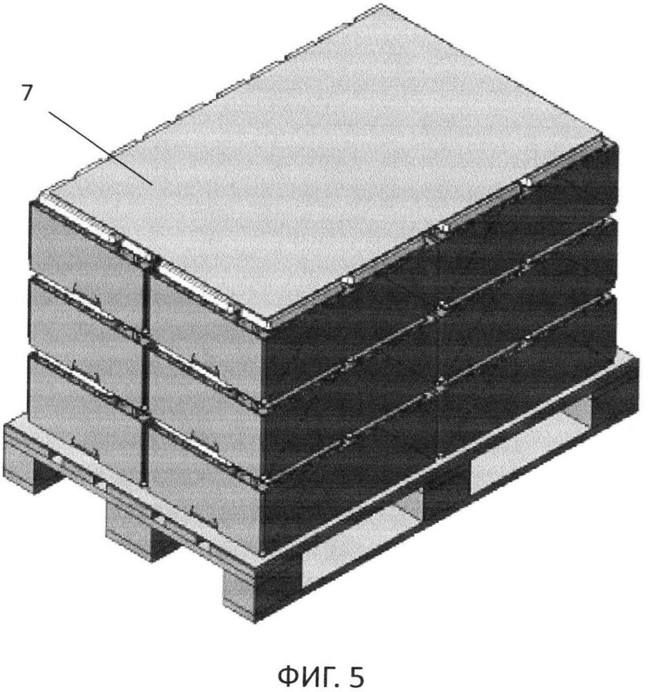 Комплексная упаковка для куриного яйца и способ формирования штабеля на ее основе
