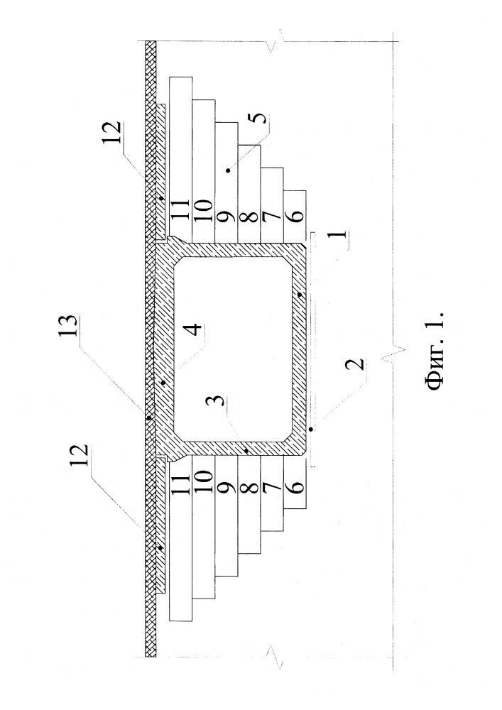 Способ уменьшения активного давления грунта на вертикальные и наклонные поверхности элементов искусственных сооружений и конструкция монолитного геомассива, изготовленная с применением способа