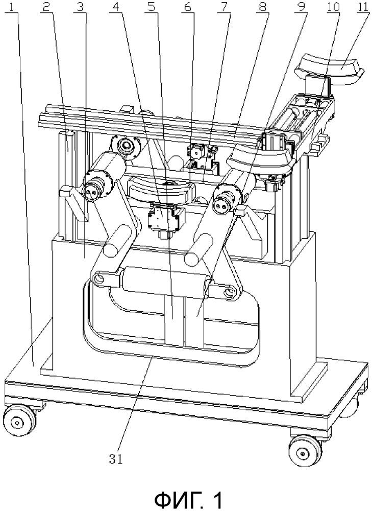 Установка для обнаружения дефектов с функцией параллельного поддомкрачивания, выполненная с возможностью обнаружения дефектов без демонтажа колес