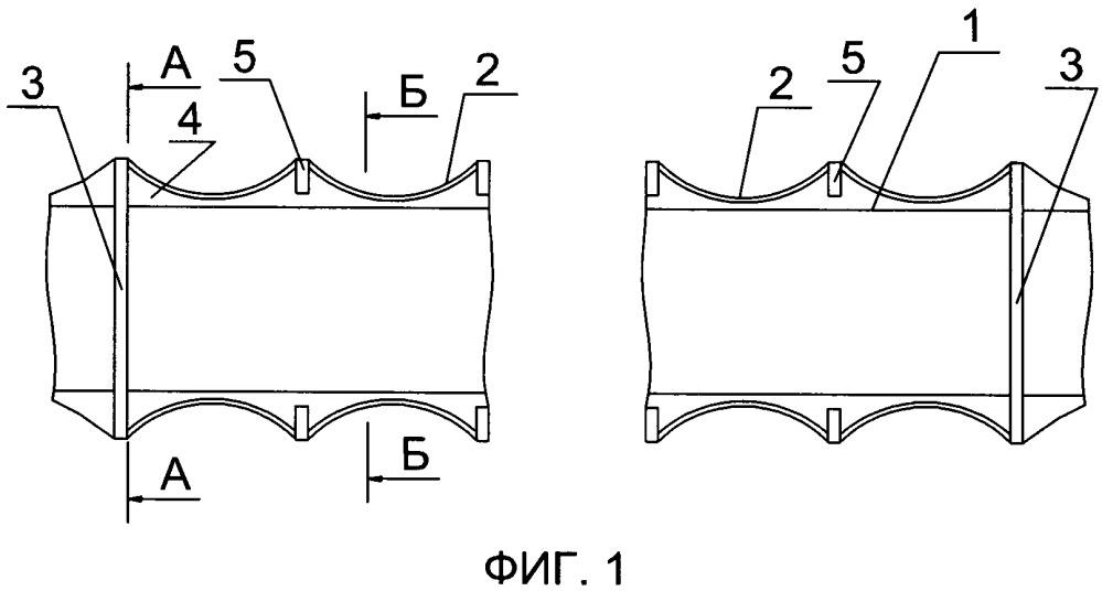 Секция корпуса подводного аппарата