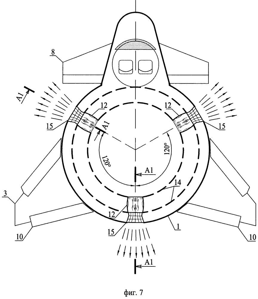 Реактивный самолет с укороченным либо вертикальным взлетом и посадкой (варианты)
