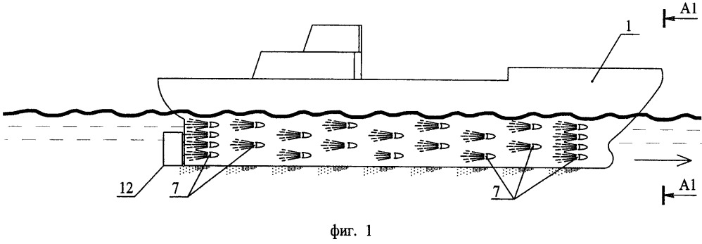 Многоструйный реактивный движитель для высокоскоростных судов, движущихся по поверхности воды, над поверхностью воды и под водой (варианты)