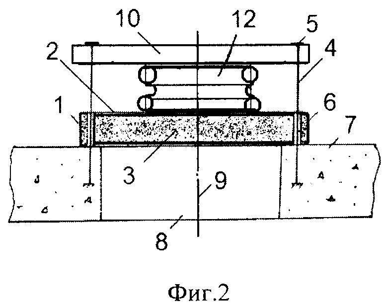 Противовзрывная панель кочетова с резинокордным демпфирующим элементом