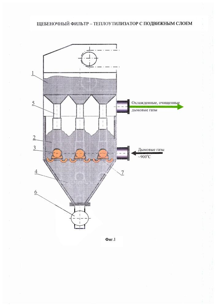 Щебеночный фильтр-теплоутилизатор с подвижным слоем