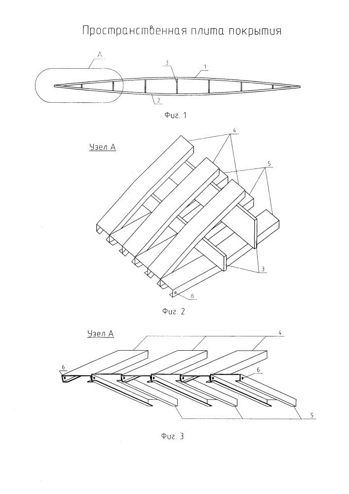 Пространственная плита покрытия