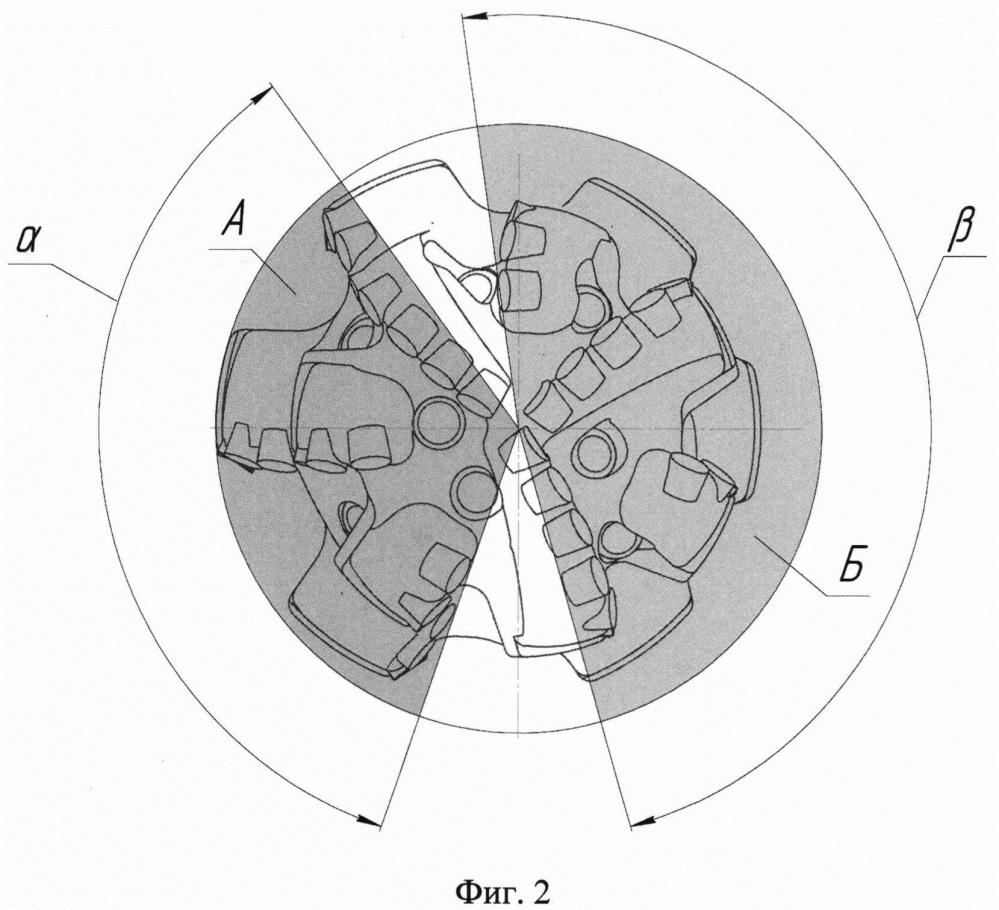 Буровое алмазное долото для бурения зоны поглощения промывочной жидкости с одновременным расширением скважины