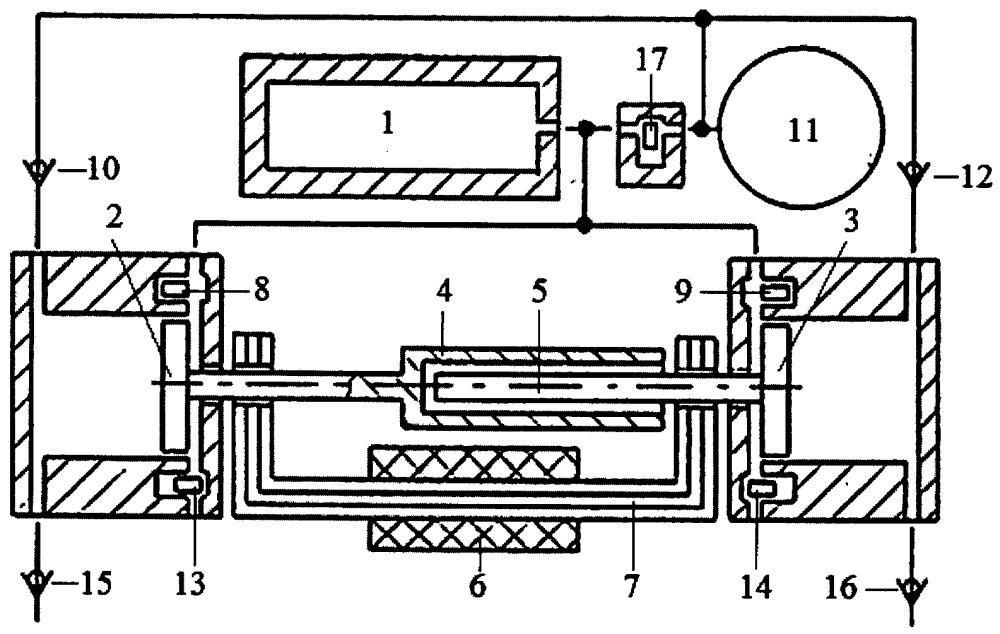 Способ преобразования тепловой энергии в электроэнергию двухцилиндровым свободнопоршневым энергомодулем с оппозитным движением поршней, линейным электрогенератором и теплообменником