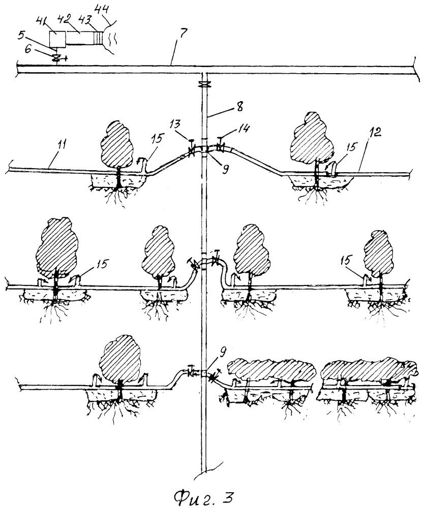 Способ капельного орошения на склонах оврага