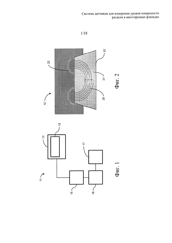 Система датчика для измерения уровня поверхности раздела в многофазных флюидах
