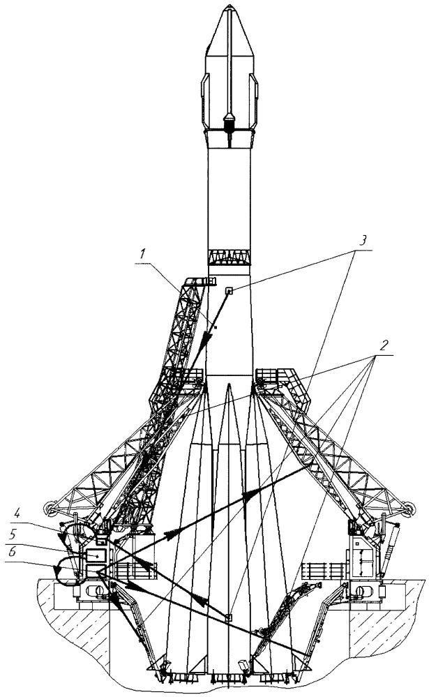Способ предстартовой подготовки ракеты-носителя на стартовом комплексе