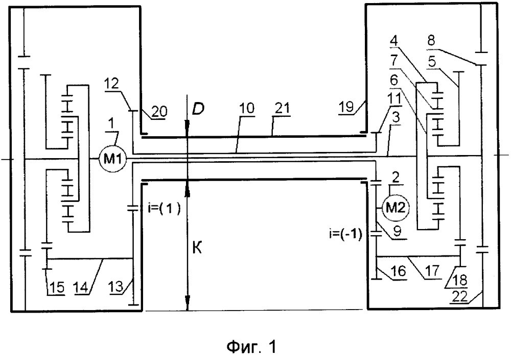 Привод транспортного средства с двухпоточным бесступенчатым механизмом передач и поворота