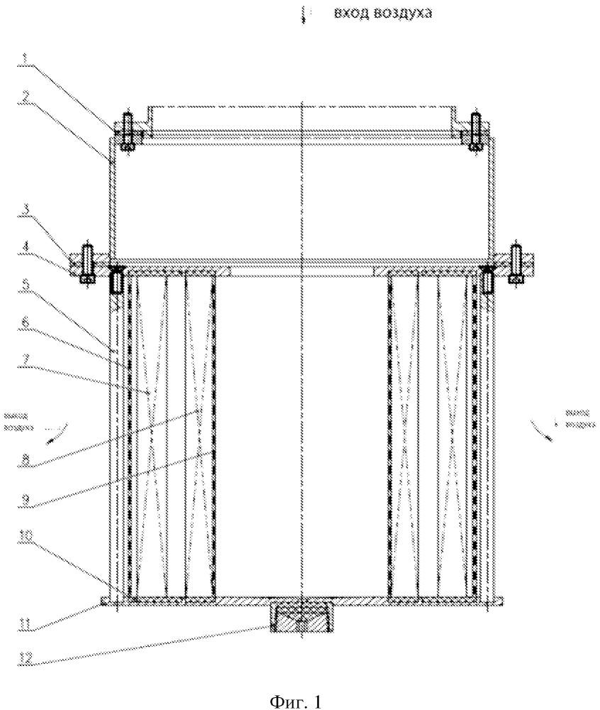 Фильтрующий элемент фланцевого патрубка фильтра для обращения с радиоактивными аэрозолями на атомной электростанции