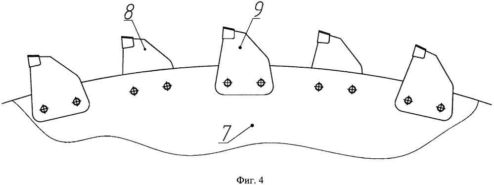 Режущий сегмент, устройство для обработки обожженных анодов с режущим сегментом и способ обработки обожженных анодов с помощью устройства