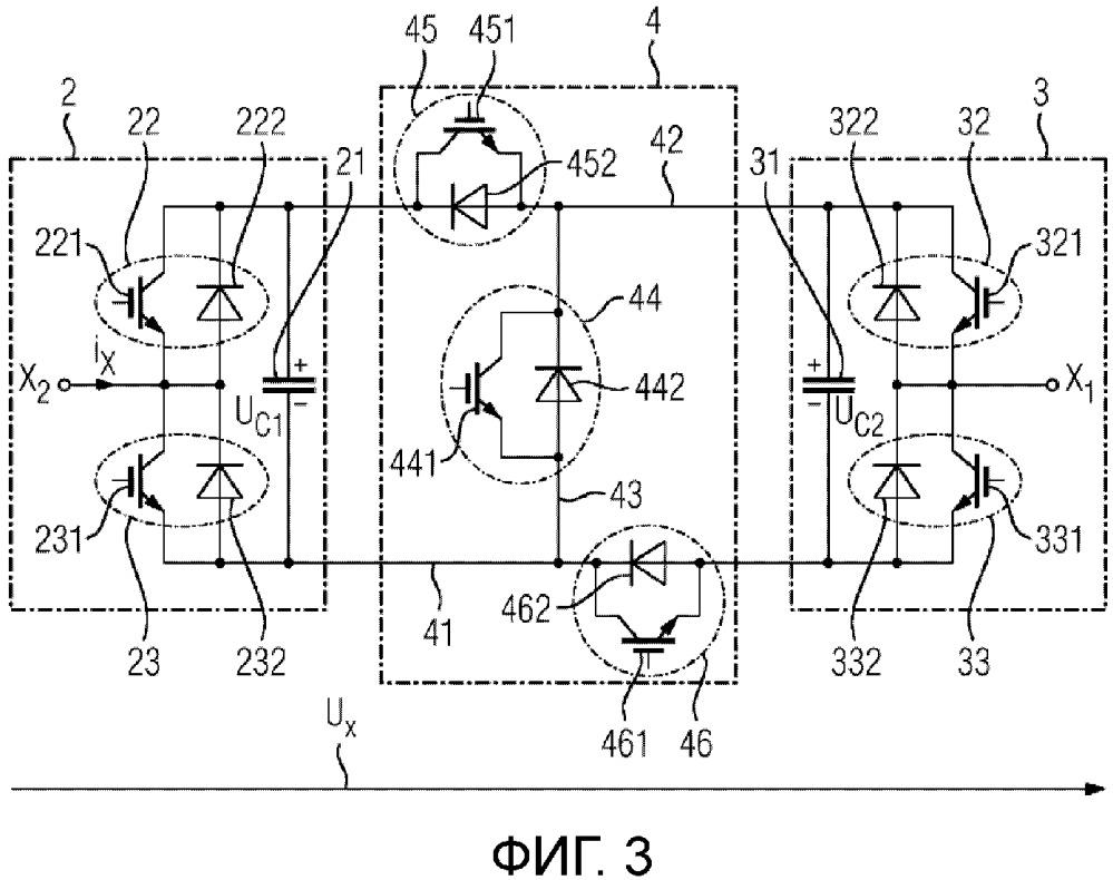 Модульный многоточечный вентильный преобразователь для высоких напряжений