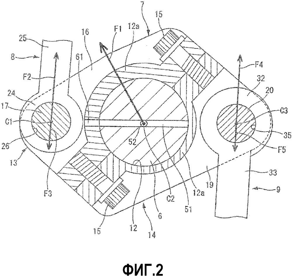 Двухзвенный поршневой кривошипно-шатунный механизм для двигателя внутреннего сгорания