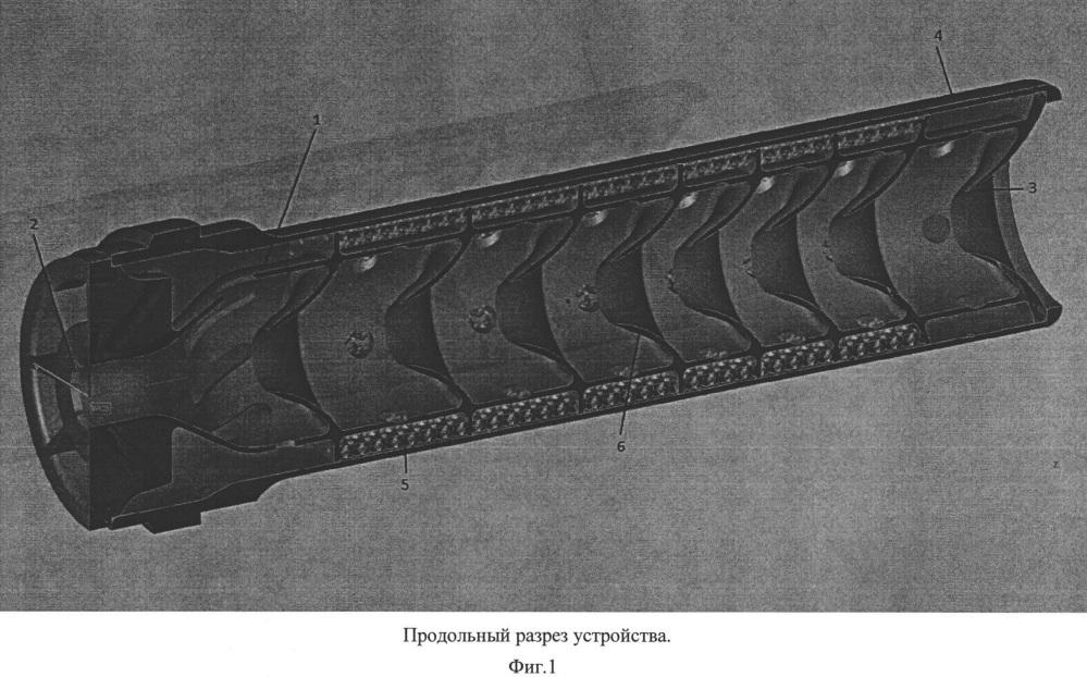 Глушитель звука выстрела, изготовленный по технологии селективного лазерного сплавления металлов