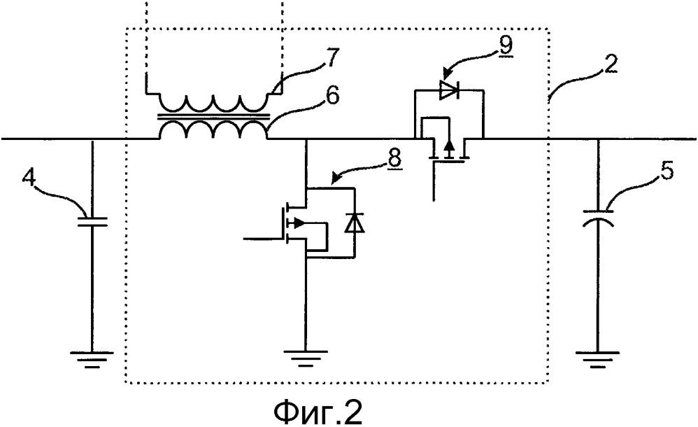 Каскад преобразователя мощности, контроллер и способ подачи мощности на контроллер