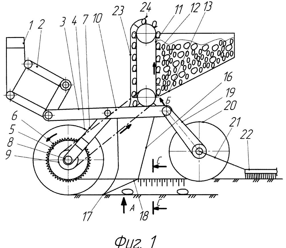 Сошниковая секция картофелепосадочной машины