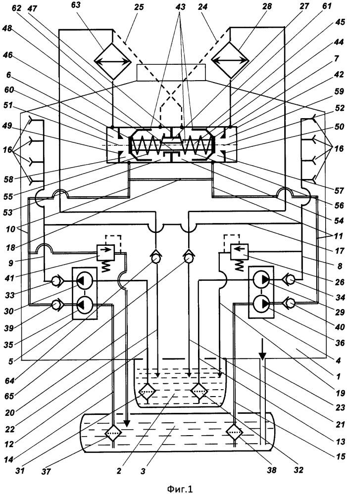 Маслосистема редуктора вертолёта с резервированием контуров смазки и охлаждения