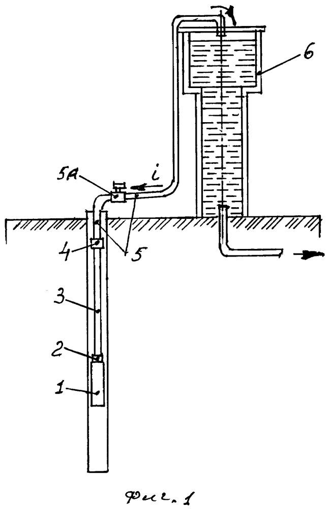 Устройство для подачи воды из скважины в башню и его автоматический сливной клапан