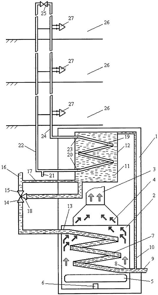 Способ работы отопительного котла в системе горячего водоснабжения