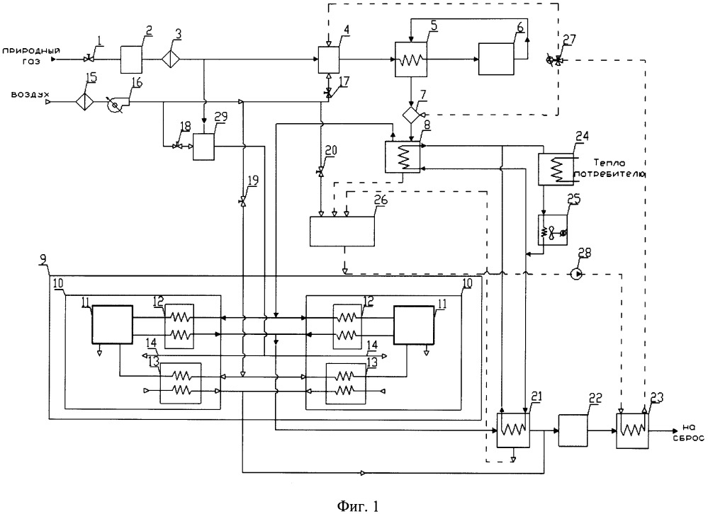 Энергоустановка на основе твердооксидных топливных элементов