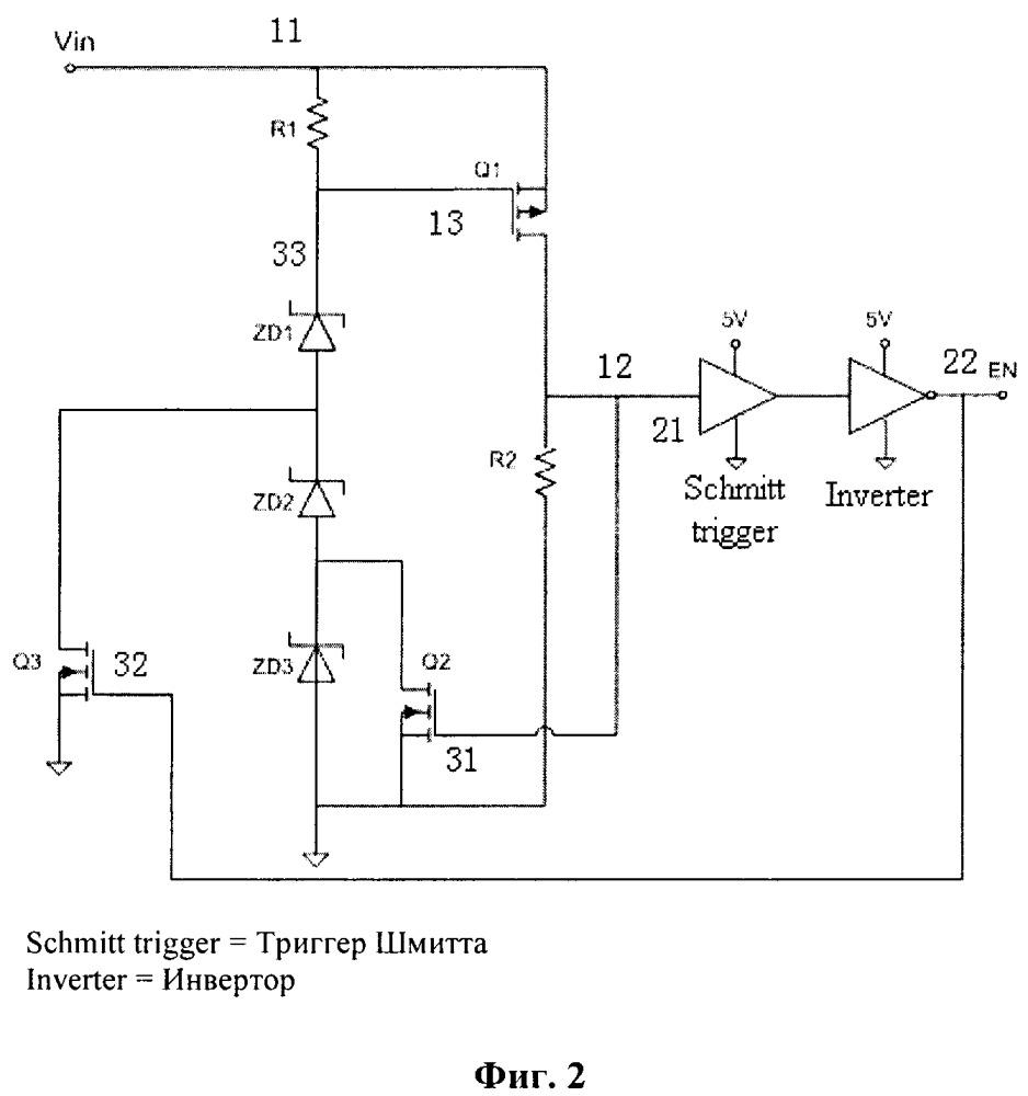 Схема и способ для оптимизации диапазона входного напряжения интегральной микросхемы