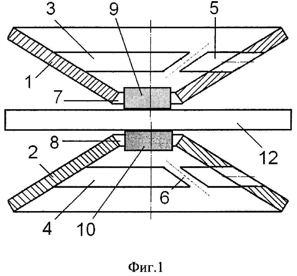 Сдвоенный тарельчатый виброизолятор