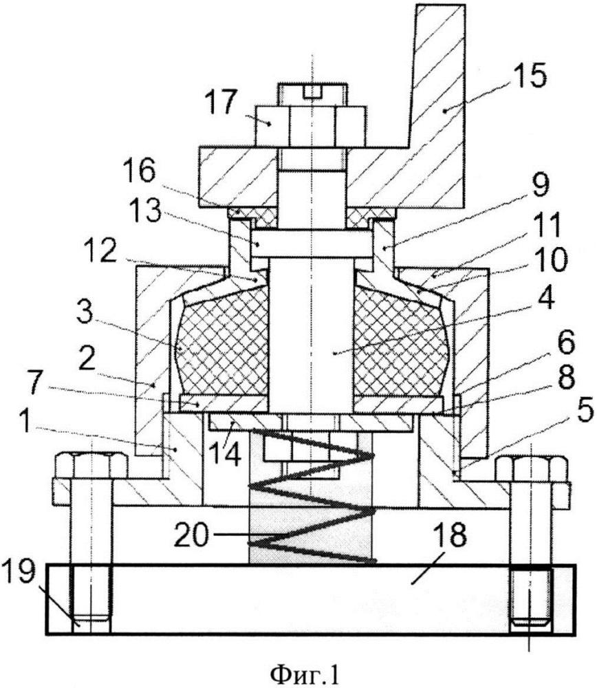 Виброизолятор комбинированный