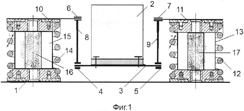 Шарнирно-рычажная система виброизоляции с резино-сетчатым демпфером