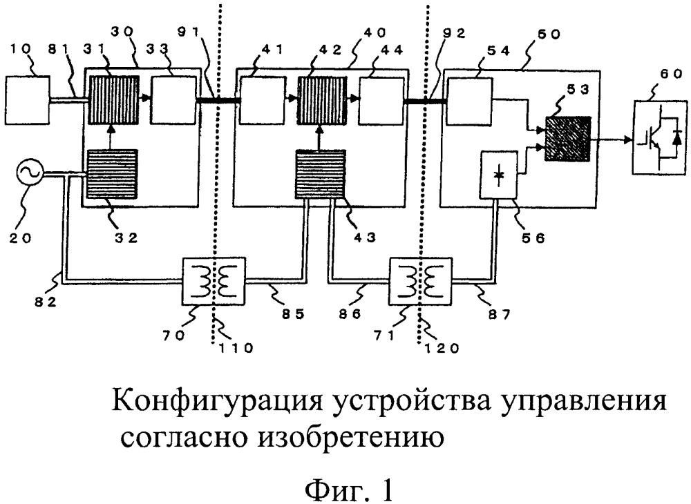 Схема гальванической развязки для устройства преобразования мощности