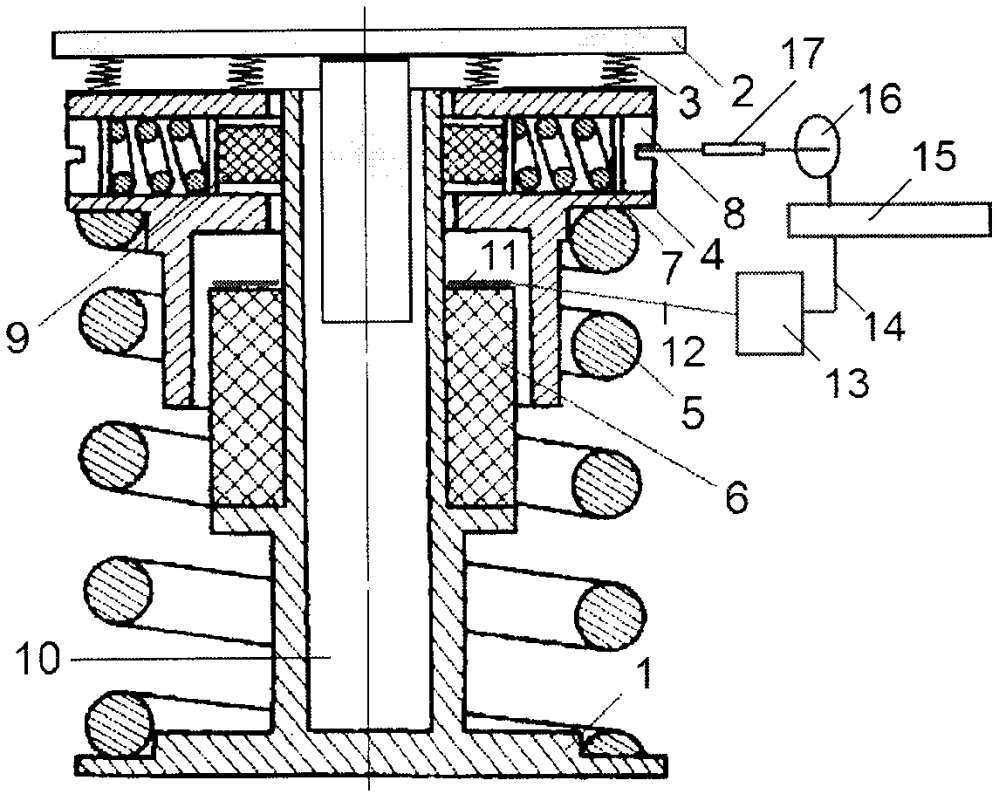 Пружинный виброизолятор с регулируемым демпфером сухого трения