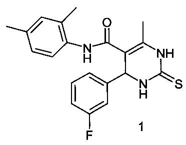4-метил-n-2,4-диметилфенил-6-(3-фторфенил)-2-тиоксо-1,2,3,6-тетрагидропиримидин-5-карбоксамид, проявляющий анальгетическое действие