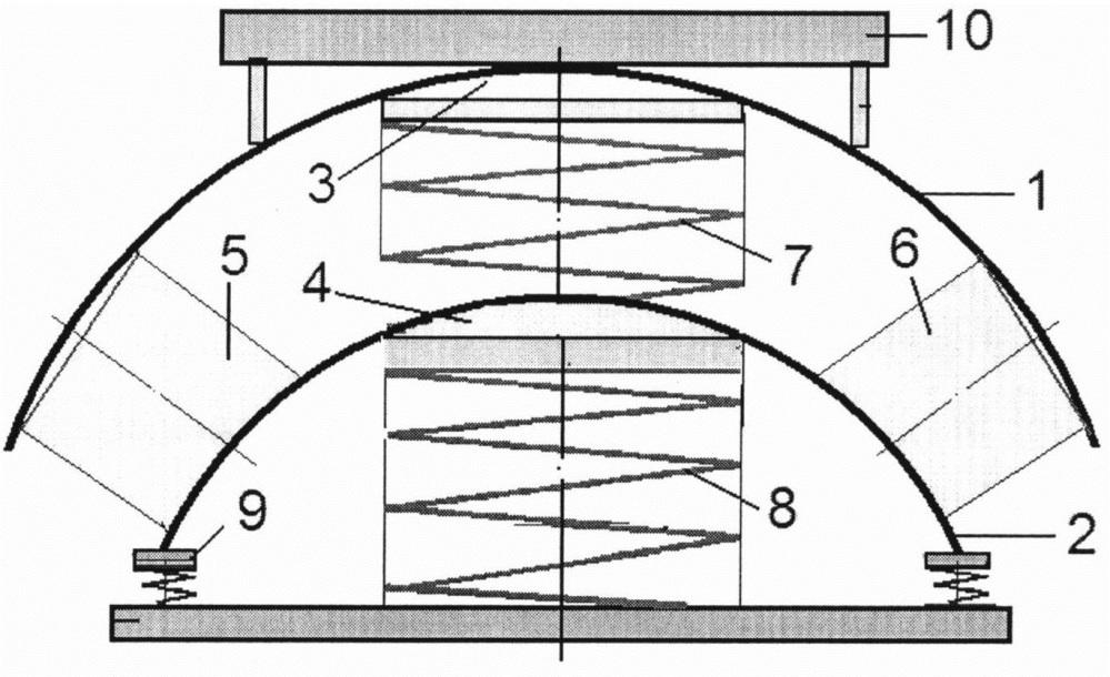 Двухступенчатый сферический виброизолятор