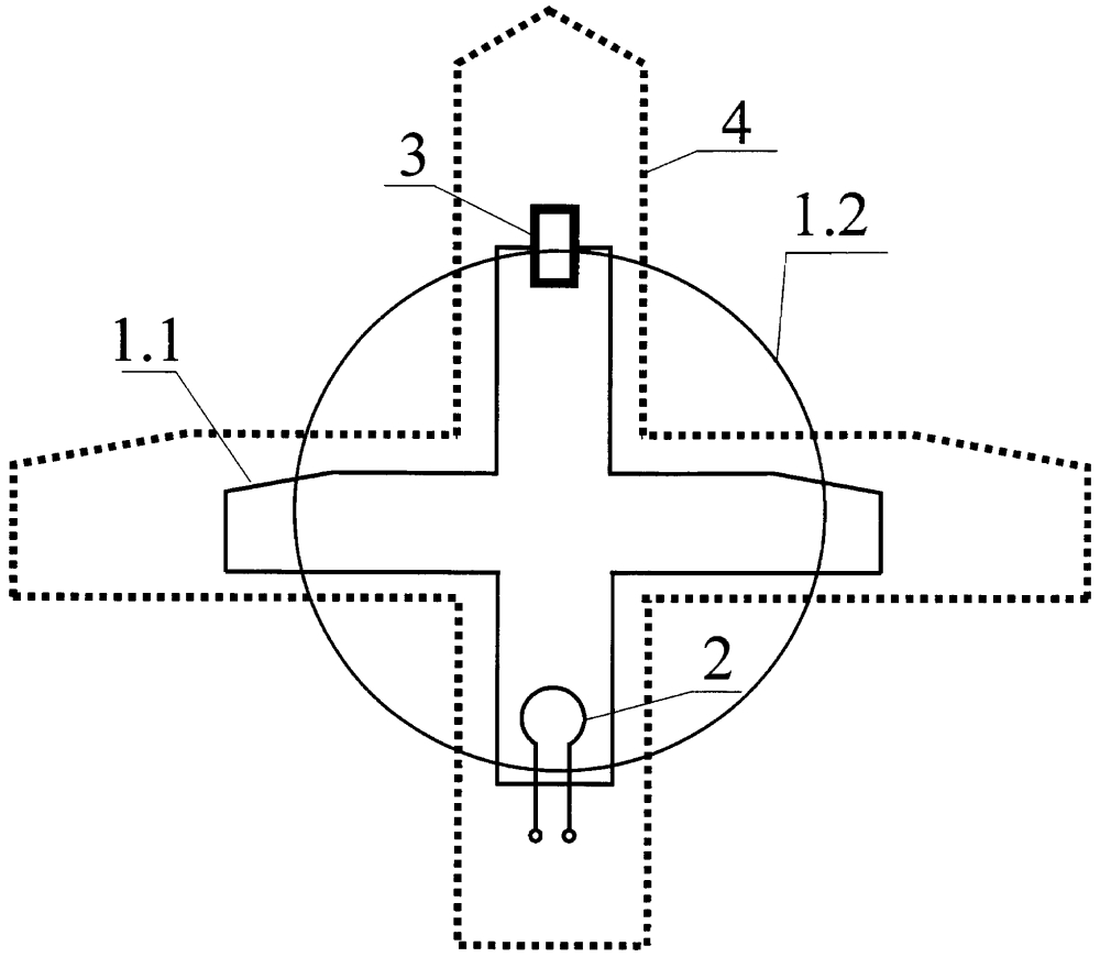 Приемо-передающая антенна декаметрового диапазона волн беспилотных летательных аппаратов