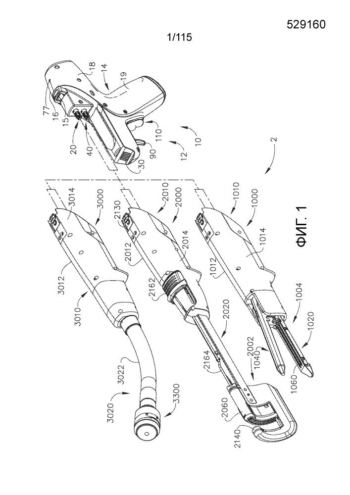 Хирургический сшивающий инструмент с электропитанием