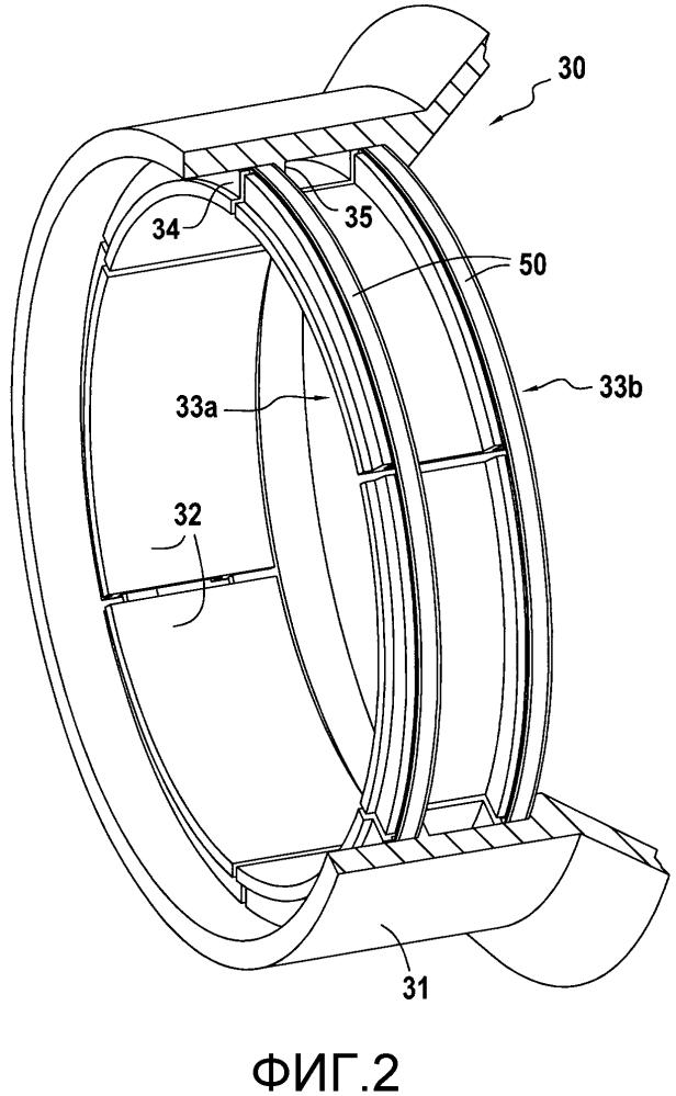 Кольцо турбины для турбомашины