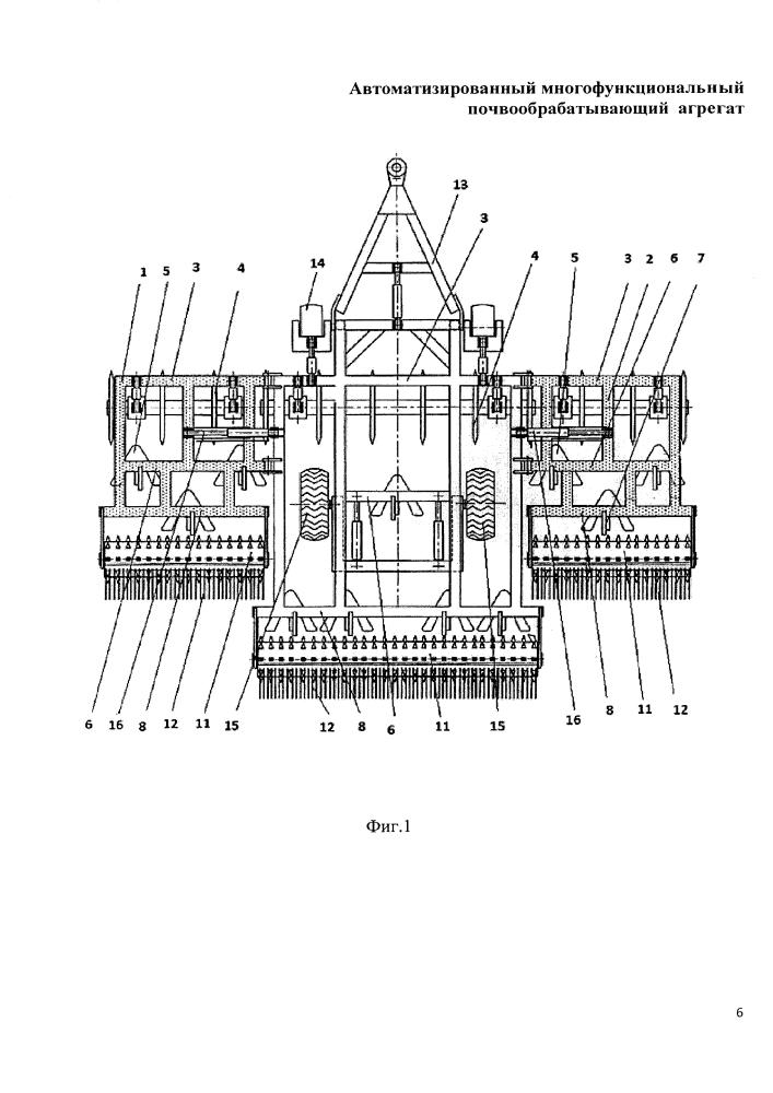 Автоматизированный многофункциональный почвообрабатывающий агрегат