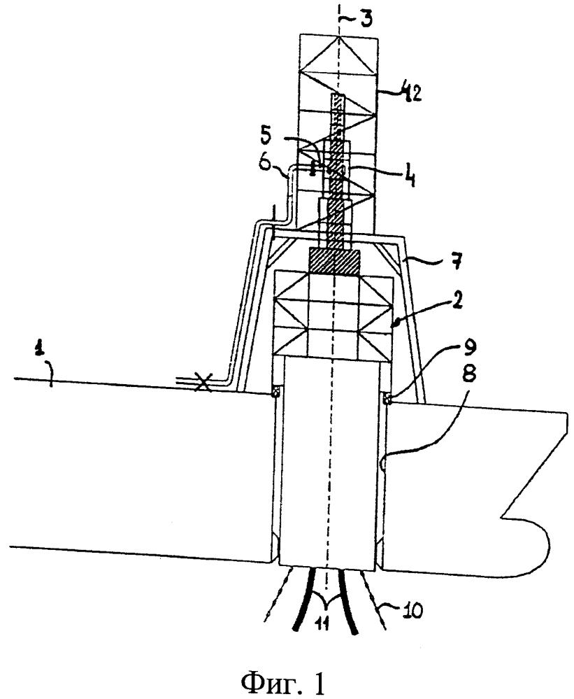 Устройство для транспортировки текучих сред между судном и турелью, установленной на этом судне