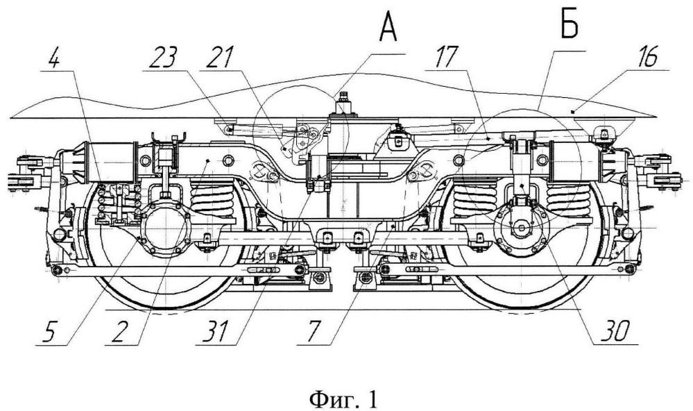 Двухосная тележка скоростного многофункционального железнодорожного подвижного состава