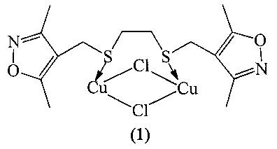 Способ получения хелатного s,s-комплекса дихлорида димеди(i) 1,2-бис[(3,5-диметилизоксазол-4-ил)метилсульфанил]этана