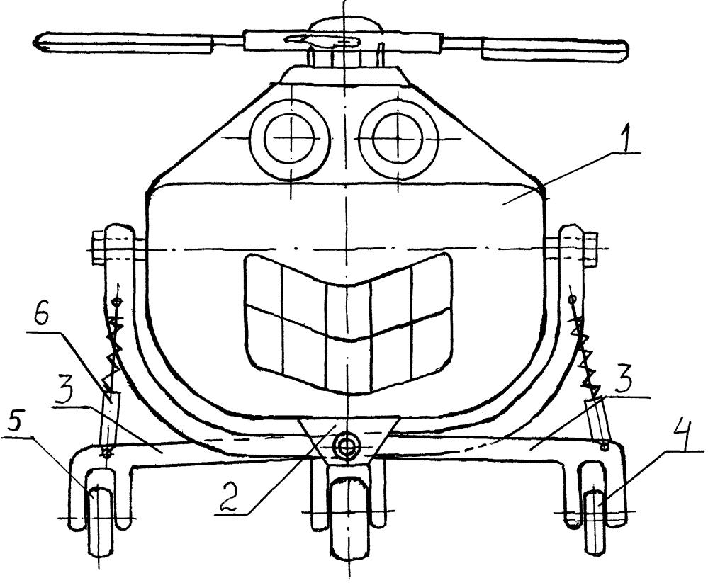 Устройство для мягкой посадки вертолёта