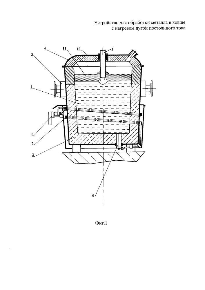 Устройство для обработки металла в ковше